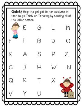 Halloween Letter Naming Fluency