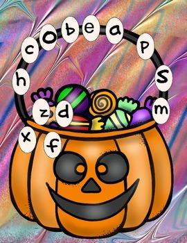 Halloween Letter & Number Matching Mats
