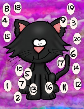 Halloween Letter & Number Mats Set Two