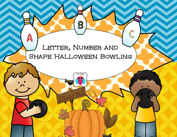 Halloween Letter, Number and Shape Bowling