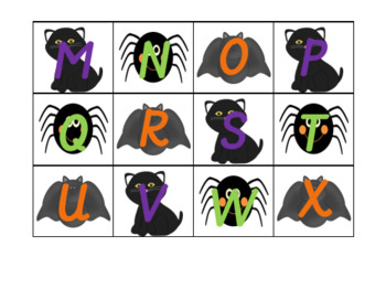 Halloween Letter Recognition Activities