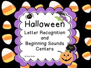 Halloween Letter Recognition and Beginning Sounds Center
