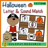 Halloween Letter & Sound Match Game