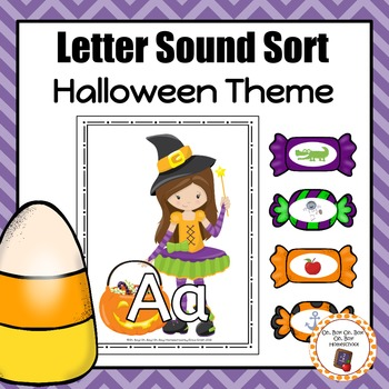Halloween Letter Sound Sorting