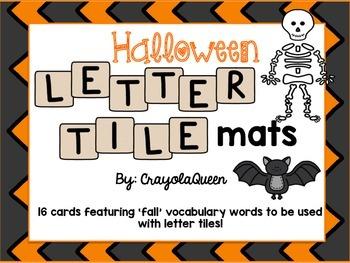 Halloween Letter Tile Mats
