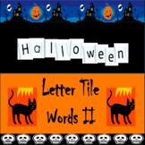 Halloween Letter Tile Word Building Task Cards