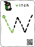 Halloween - Letter Tracing initial sounds interactive QR mats (English)