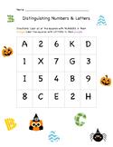 Halloween Letter or Number Sort