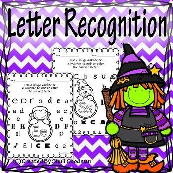 Halloween Letter recognition - bingo dab activity