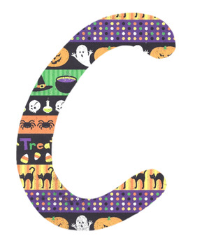 Halloween Letters (Alphabets)