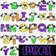 Alphabet Letters Clip Art - Halloween Bats Letters {jen hart Clip Art}
