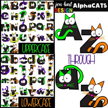 Halloween Letters Clipart -AlphaCATS