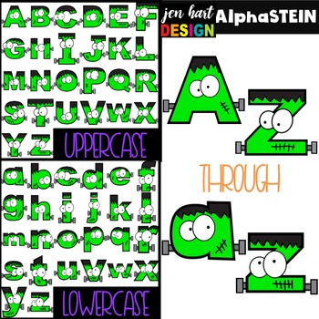 Halloween Letters Clipart -AlphaSTEIN