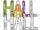 Halloween Letters Digital Clip Art Set- Color and Black Line
