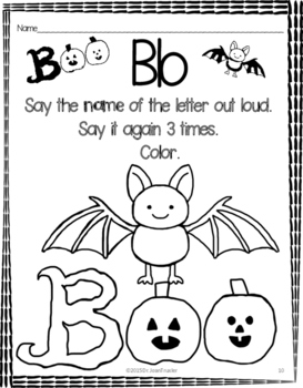 Halloween Letters (Preschool and Kindergarten)