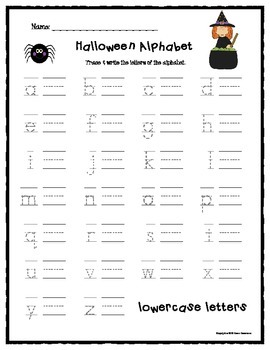 Halloween Letters & Sounds Worksheets - (Beginning Sounds, Tracing Letters)