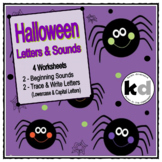 Halloween Letters & Sounds Worksheets - (Beginning Sounds,