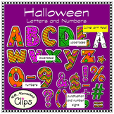 Halloween Letters and Numbers