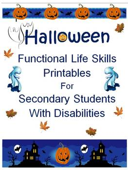 Halloween Life Skills for Secondary Students with Disabilities