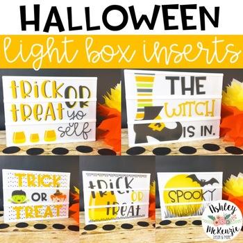 Halloween Light Box Inserts - Heidi Swapp and Leisure Arts