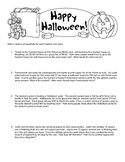 Halloween Linear System Word Problems TEKS 8.9A