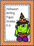 Halloween Lined Handwriting Paper