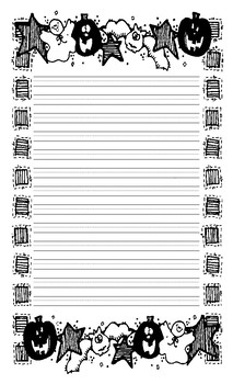 Halloween Lined Writing Paper