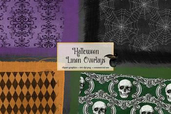 Halloween Linen Overlays Clipart