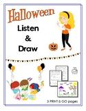 Halloween Listen & Draw