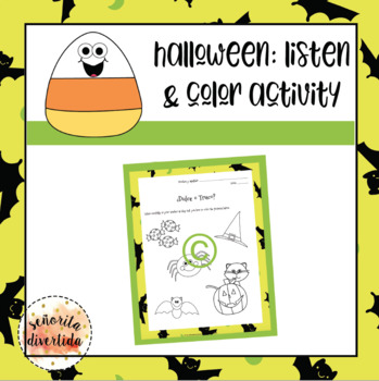 Halloween Listen and Color Activity