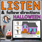 Halloween Listen and Follow Directions with AUDIO |  Boom Cards™