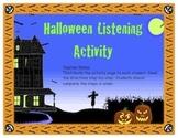 Halloween Listening Activity