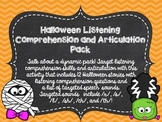 Halloween Listening Comprehension and Articulation Pack