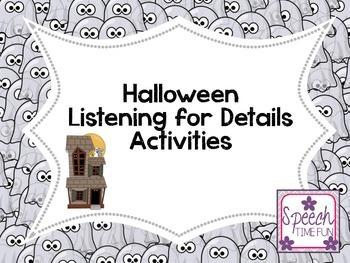 Halloween Listening For Details Activities