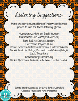 Halloween Listening Glyphs