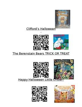 Halloween Listening Library QR Codes