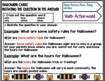 Halloween Listening Comprehension Cards