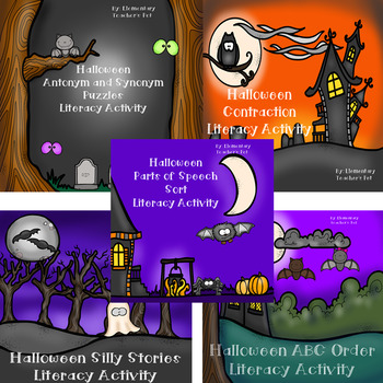 Halloween Literacy Activity Bundle