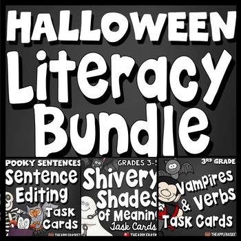 Halloween Literacy Bargain Bundle for Third Graders