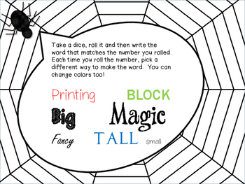Halloween Literacy Block Activities with Dolch Sight Words