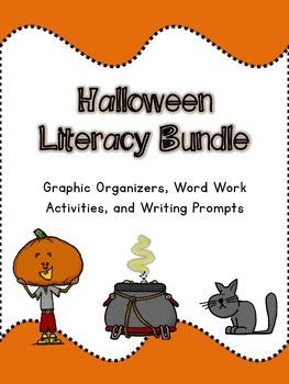 Halloween Literacy Bundle: Graphic Organizers, Word Work, and Writing Activities