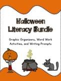 Halloween Literacy Bundle: Graphic Organizers, Word Work,
