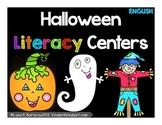 Halloween Literacy Center Activities- English