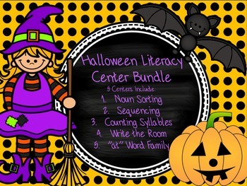 Halloween Literacy Center Bundle