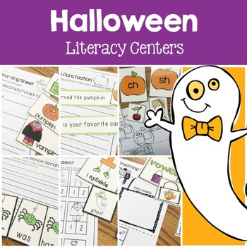 Halloween Literacy Center Fun