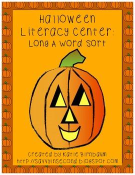 Halloween Literacy Center: Long A Sort