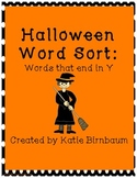 Halloween Literacy Center: Long Vowel with Y