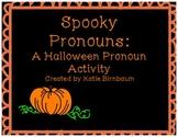 Halloween Literacy Center: Pronouns Activity