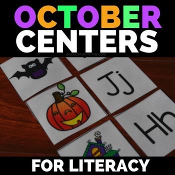 Halloween Literacy Centers