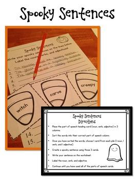 Halloween Literacy Centers (7 Activities!)